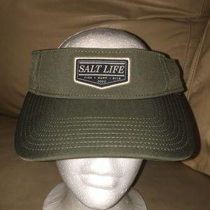 Salt Life olive drab green visor hat adjustable